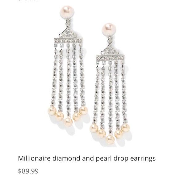 7b730eb37 QVC Jewelry   Of Legends Crystal Pearl Earrings   Poshmark